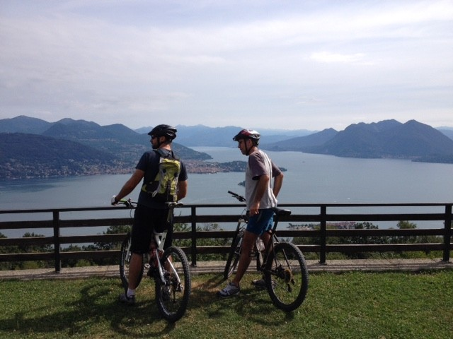 Mountain biking on Mount Mottarone